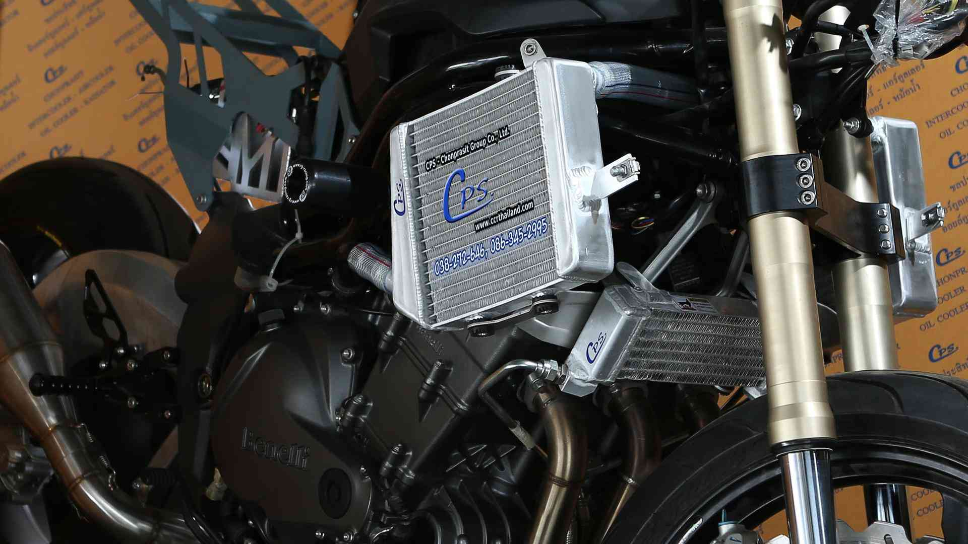 CPS motorcycle radiator for benelli motorcycle with oil cooler