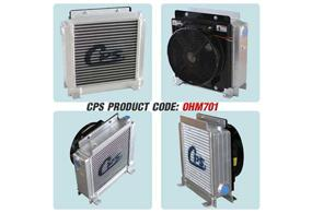 CPS - concrete mixing truck oil cooler with fan 24VDC