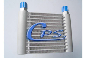 Aluminium engine oil cooler