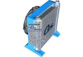 CPS hydraulic oil cooler with fan attached small size code: 431512FM
