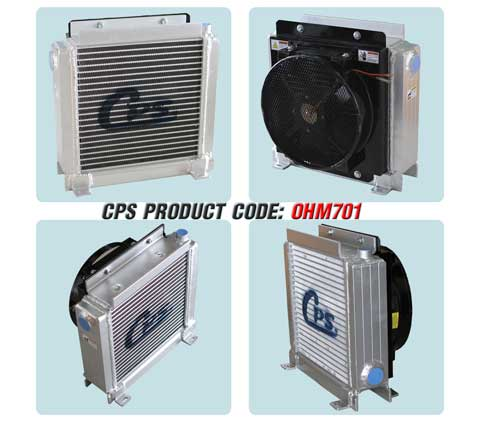 CPS oil cooler for concrete mixing truck
